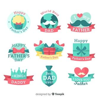 Platte vaders dag badge collectie
