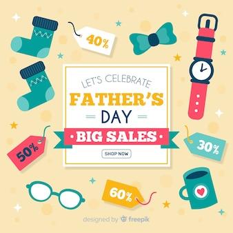 Platte vaders dag verkoop achtergrond