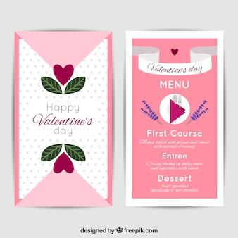 Platte valentijn menu concept
