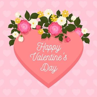 Platte valentijnsdag achtergrond