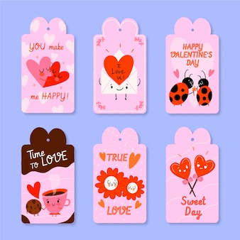 Platte valentijnsdag badges