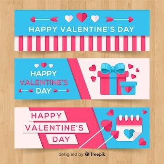 Platte valentijnsdag banner