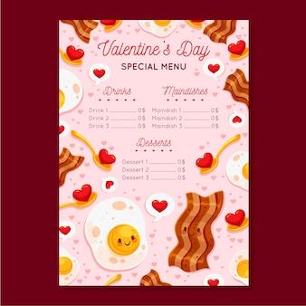 Platte valentijnsdag menu