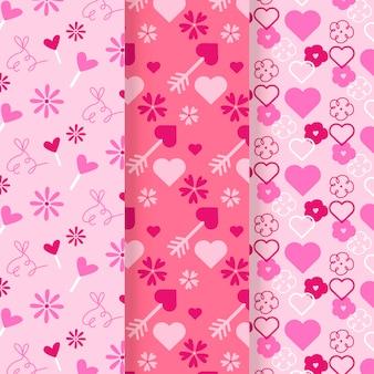 Platte valentijnsdag patronen