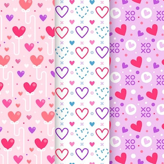 Platte valentijnsdag patroon