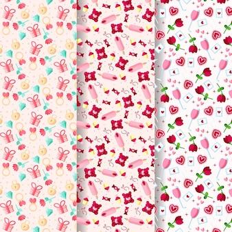 Platte valentijnsdag patroonpakket