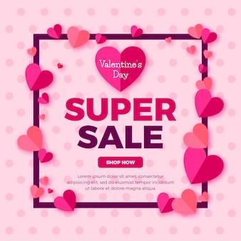 Platte valentijnsdag verkoop behang