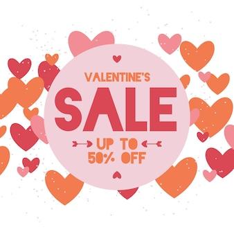 Platte valentijnsdag verkoop met korting