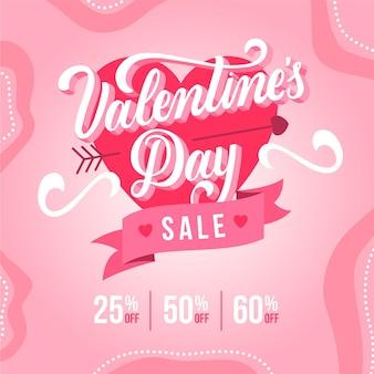 Platte valentijnsdagverkoop met kortingen