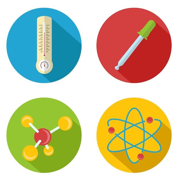 Platte vector chemische pictogram