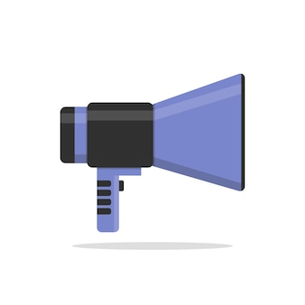 Platte vector icoon van megafoon voor social media marketing concept