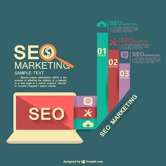 Platte vector infographic seo ontwerp