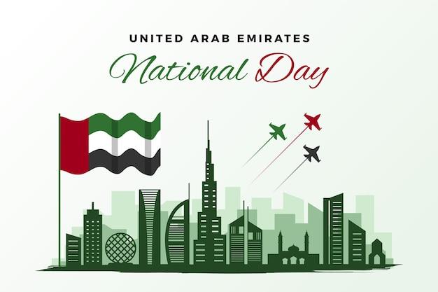 Platte verenigde arabische emiraten nationale feestdag