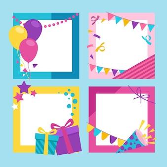 Platte verjaardag collage frames-collectie