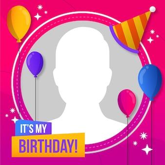Platte verjaardag facebook frame