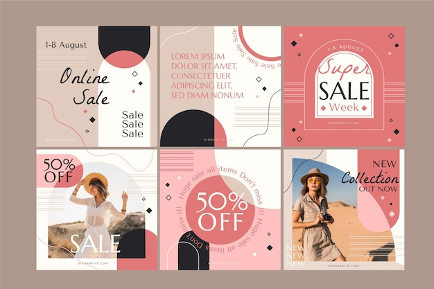 Platte verkoop instagram postverzameling