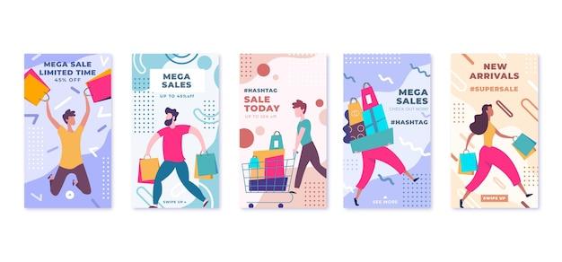 Platte verkoop instagram verhaalcollectie