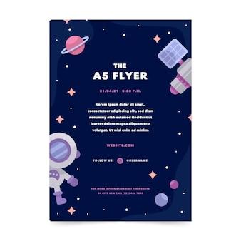 Platte verticale flyer-sjabloon