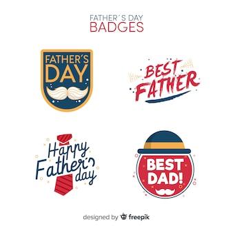Platte verzameling vadersdag-badge