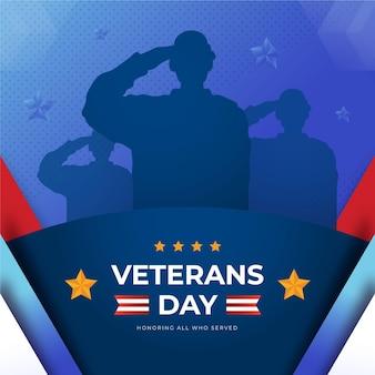 Platte veteranendag illustratie