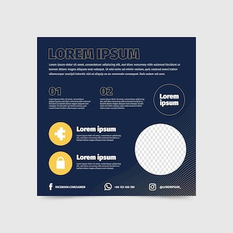 Platte vierkante sjabloon folder