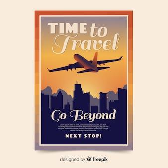 Platte vintage promotionele reisaffiche