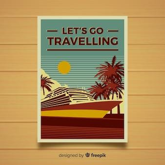 Platte vintage reisaffiche