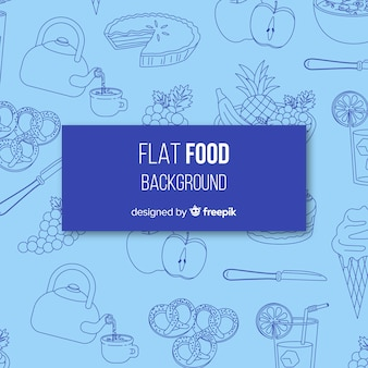 Platte voedsel achtergrond