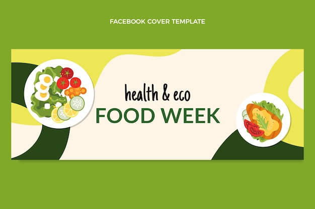 Platte voedsel facebook-omslag