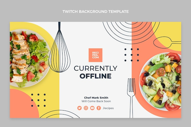 Platte voedsel twitch achtergrond