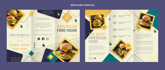 Platte voedselbrochure