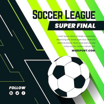 Platte voetbal league finale illustratie Gratis Vector