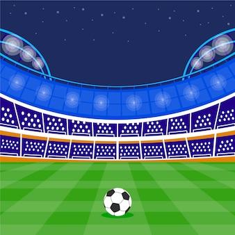 Platte voetbal voetbalstadion illustratie