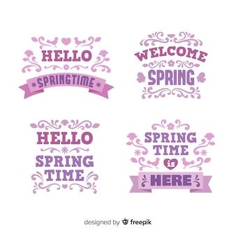 Platte voorjaar badge collectie
