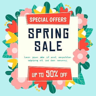 Platte voorjaarsuitverkoop met bloeiende aanbiedingen