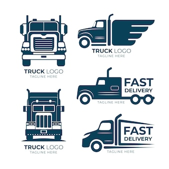 Platte vrachtwagen logo collectie