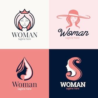 Platte vrouw logo collectie