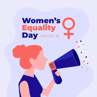 Platte vrouwen gelijkheid dag illustratie