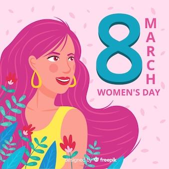 Platte vrouwendag achtergrond