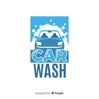 Platte wasstraat logo achtergrond