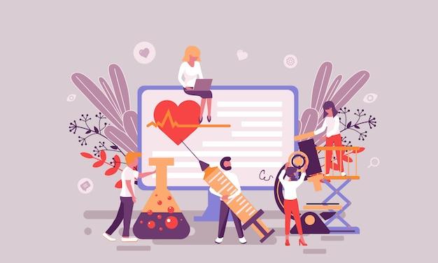 Platte webpagina ontwerpsjabloon van geneeskunde homepage