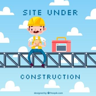 Platte website onder constructieontwerp