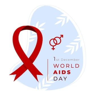 Platte wereld aids-dag