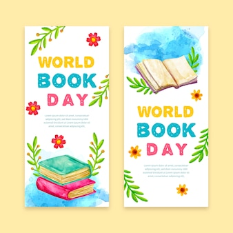 Platte wereld boek dag concept