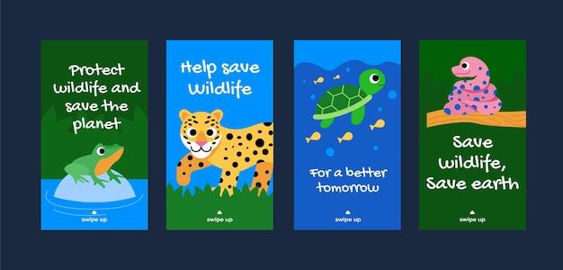 Platte wereld dierendag instagram verhalencollectie