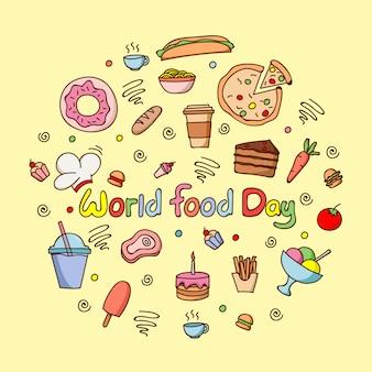 Platte wereld eten dag