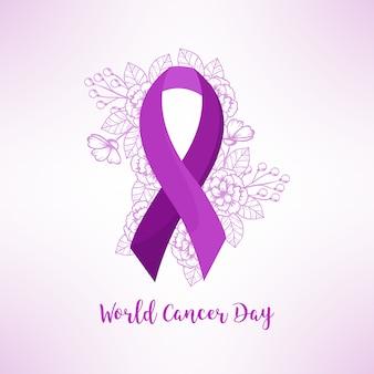 Platte wereld kanker-dag