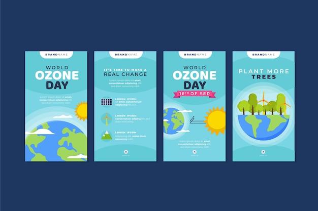 Platte wereld ozon dag instagram verhalencollectie