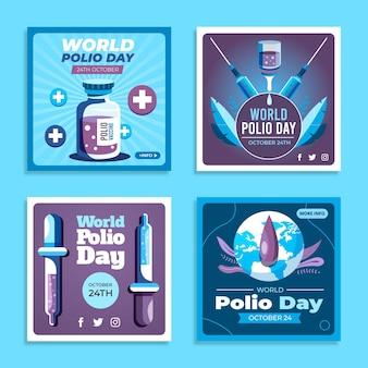 Platte wereld polio dag instagram posts collectie