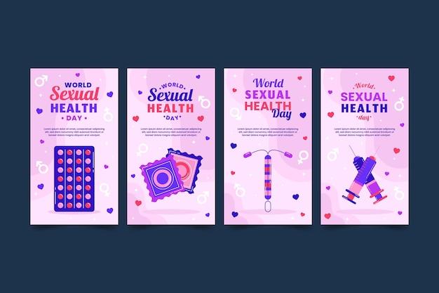 Platte wereld seksuele gezondheid dag instagram verhalencollectie